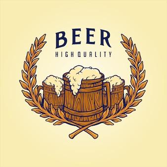 Distintivo logotipo cerveja artesanal qualidade