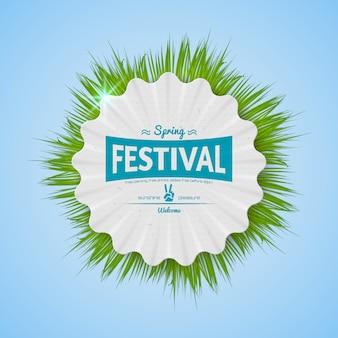 Distintivo realista do festival da primavera