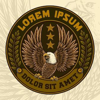 Distintivo vintage de águia