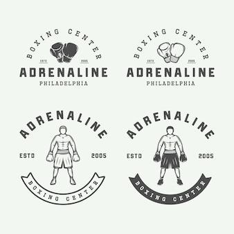 Distintivos de boxe e artes marciais