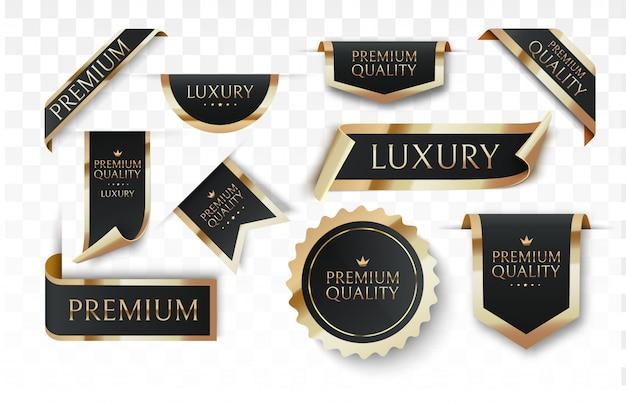 Distintivos de vetor de qualidade premium.
