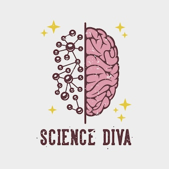 Diva da ciência tipografia slogan vintage