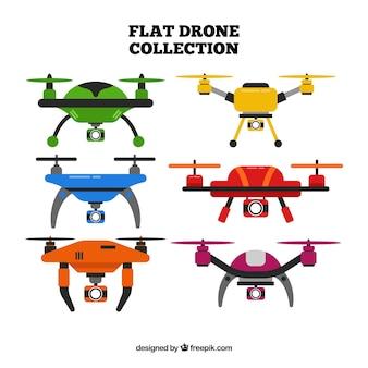 Diversão conjunto de drones coloridos