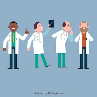 Diversão conjunto de médicos veteranos