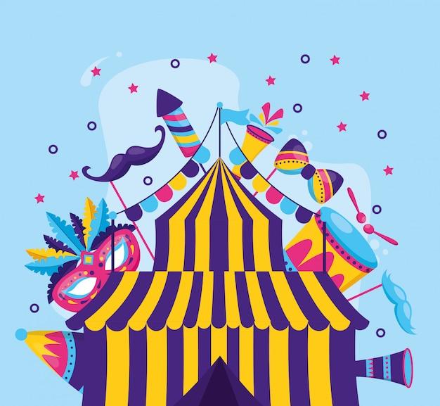 Diversão de tenda de carnaval