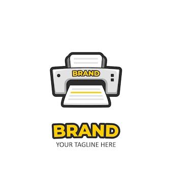 Diversão dos desenhos animados impressão impressora logotipo ícone ilustração autocolante
