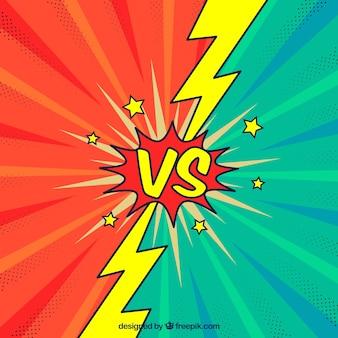 Diversão versus fundo com parafusos e estrelas