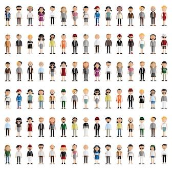 Diversidade comunidade pessoas