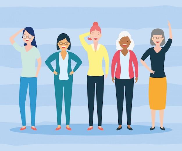 Diversidade mulher pessoas