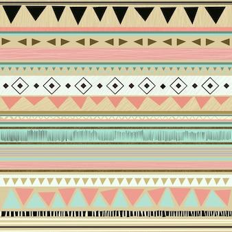 Divertido padrão tribal