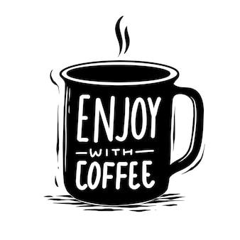 Divirta-se com ilustração de café