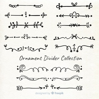 Divisor de ornamento desenhado de mão