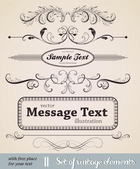 Divisor tipográfica página victorian decorativo