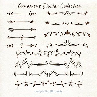 Divisores de ornamento de mão desenhada