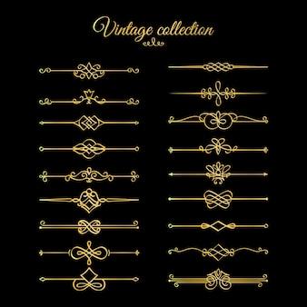 Divisores de páginas caligráficas douradas