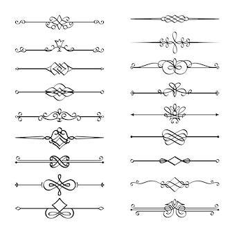 Divisores de páginas caligráficas