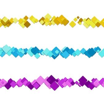 Divisores de texto quadrados multicoloridos