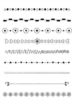 Divisores desenhados à mão