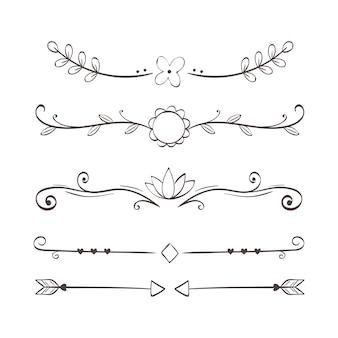 Divisores floridos ornamentais