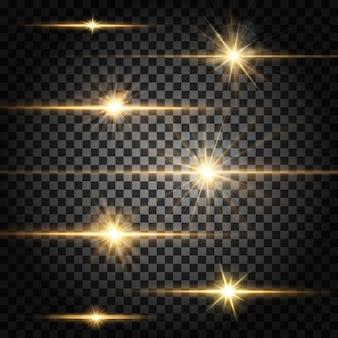 Divisores horizontais de efeito de luz