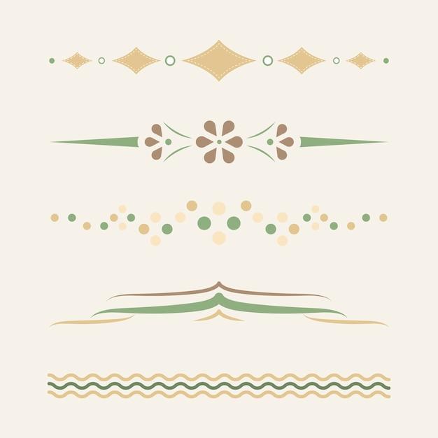 Divisores pastel design vector coleção