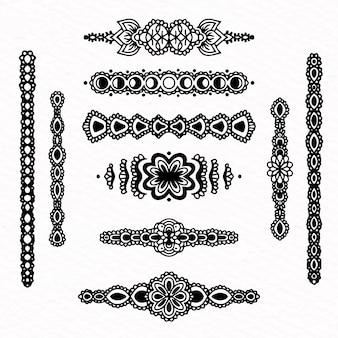 Divisória coleção mão desenhada estilo