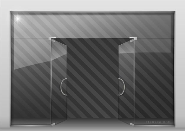 Divisória com porta de vidro