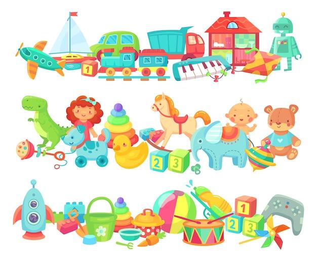 Divisórias de brinquedos de desenho animado
