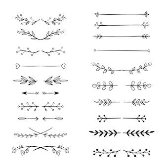 Divisórias ornamentais desenhadas à mão
