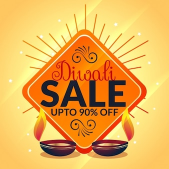 Diwali bandeira da venda do modelo de celebração oferta