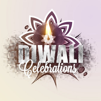 Diwali celebration halftone background.
