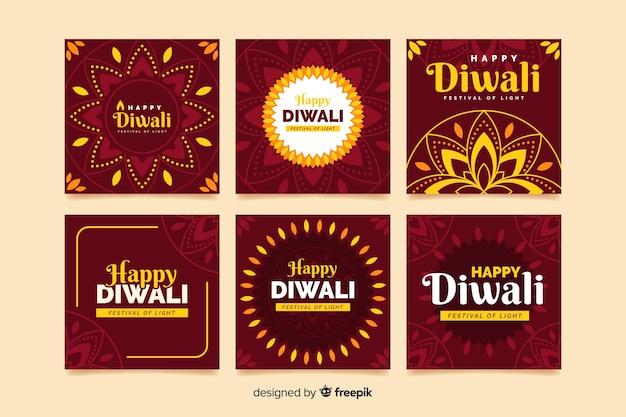 Diwali celebration instagram post coleção
