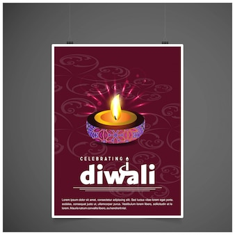 Diwali design fundo escuro e tipografia vector