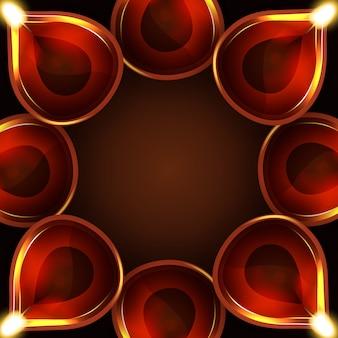 Diwali diya frame