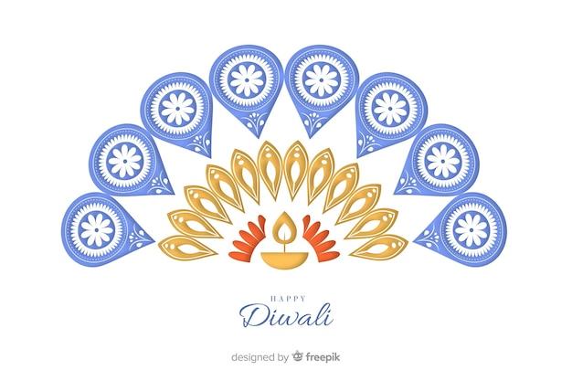 Diwali fundo em design plano