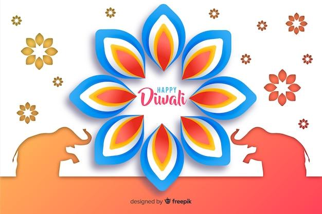 Diwali fundo em estilo de jornal