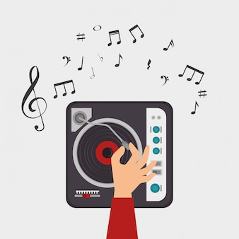 Dj console nota clave música