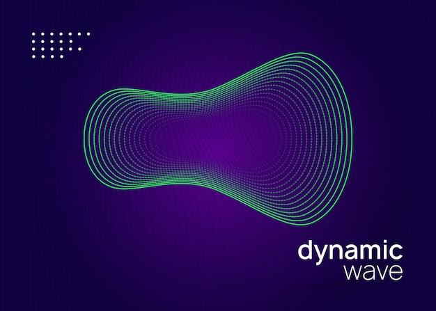 Dj event. forma e linha fluidas dinâmicas. layout de banner de concerto moderno. folheto de néon do evento dj. festa techno trance. electro dance music. som eletrônico. cartaz do clube fest.