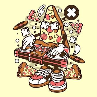 Dj pizza cartoon