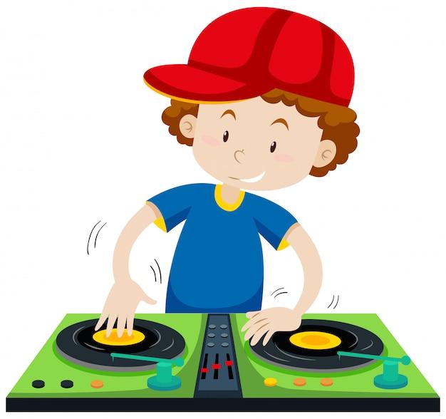 Dj tocando música na estação