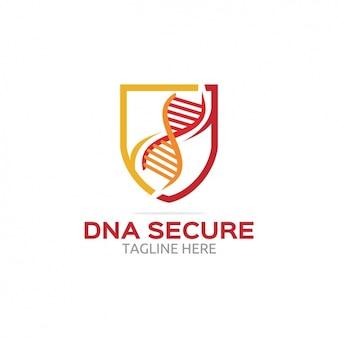 Dna logotipo seguro