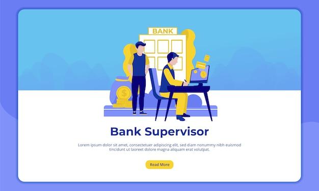 Do supervisor do banco, página de destino das atividades bancárias