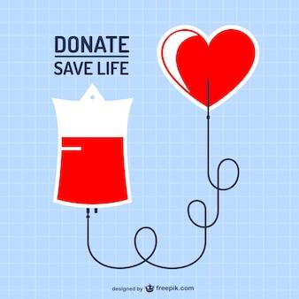 Doação de sangue do vetor da arte
