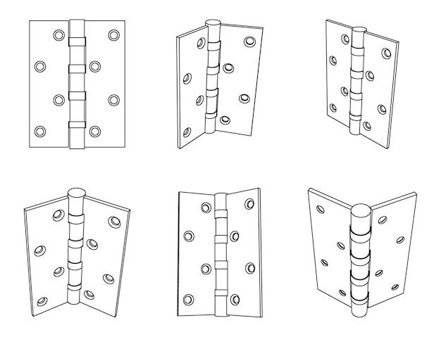 Dobradiça de porta traseira de aço vetorial
