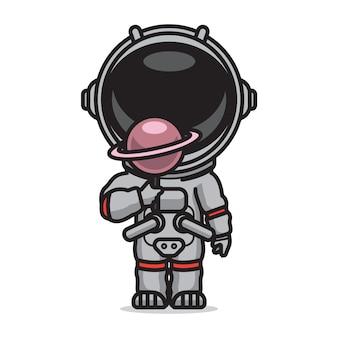 Doce bonito astronauta