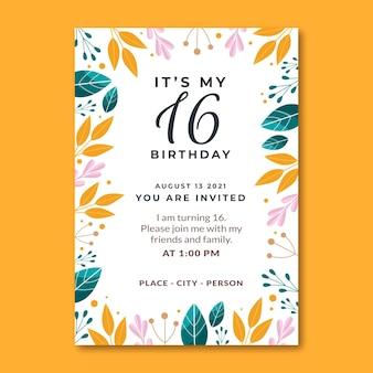 Doce convite de dezesseis anos