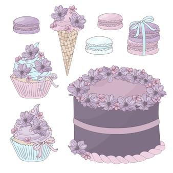 Doce de festa de aniversário de bolo festiva