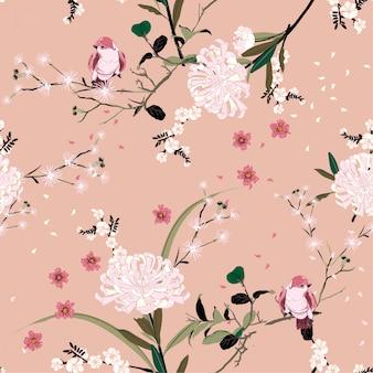 Doce humor de flor de jardim oriental