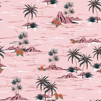 Doce verão humor sem costura ilha padrão vector