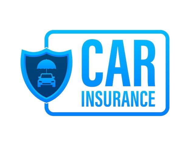 Documento de contrato de seguro. ícone de escudo. proteção. ilustração em vetor das ações.